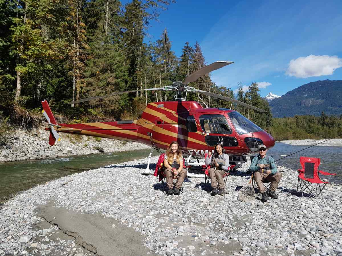 Heli Fishing British Columbia Canada