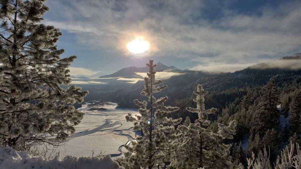 Snowmobile Ice fishing trips in British Columbia